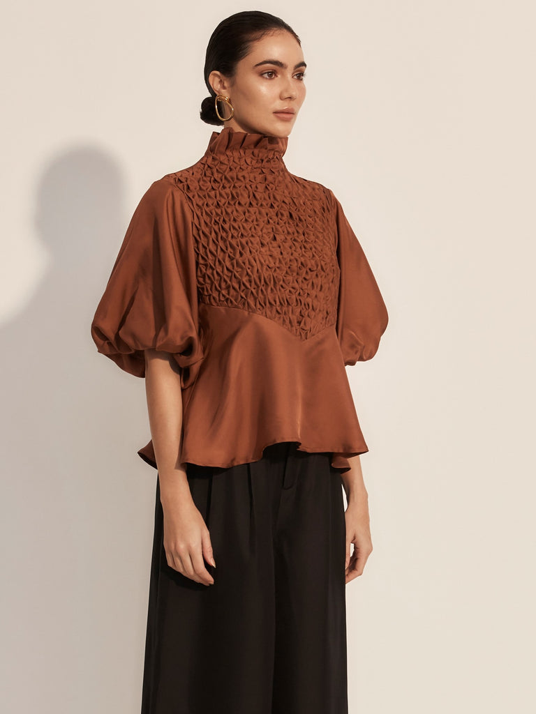 The Couru Blouse - Rust