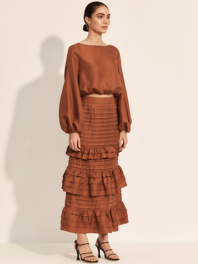The Glissade Skirt - Rust