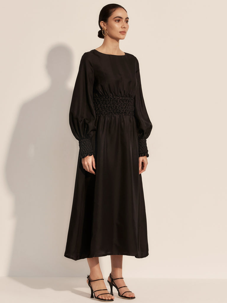 The Etoile Midi Dress - Moonless