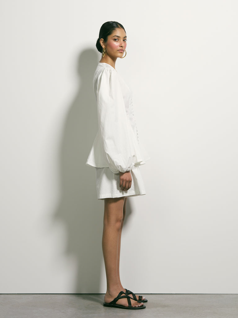 Lay Low Cotton Blouse - Ivory