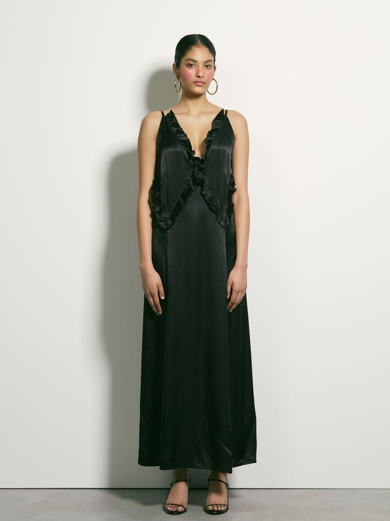 There Is Here Silk Dress - Black