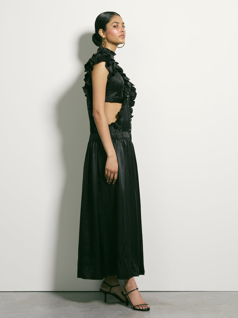Corporeal Silk Dress - Black