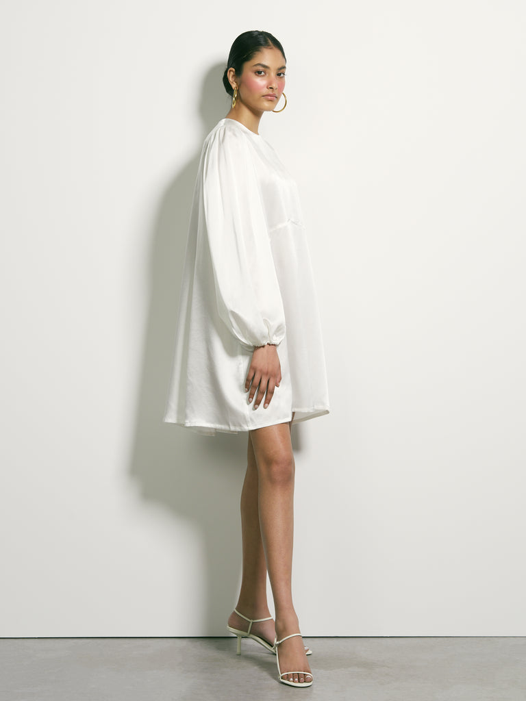 High Hopes Silk Dress - White