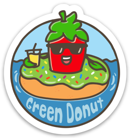 Sticker - GreenDonut (56 mm x 60 mm)