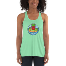 Load image into Gallery viewer, Women's Flowy Racerback Tank - GreenDonut
