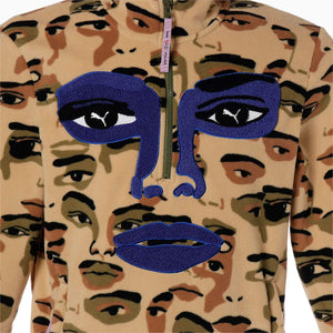 Eyes Camo Fleece Top