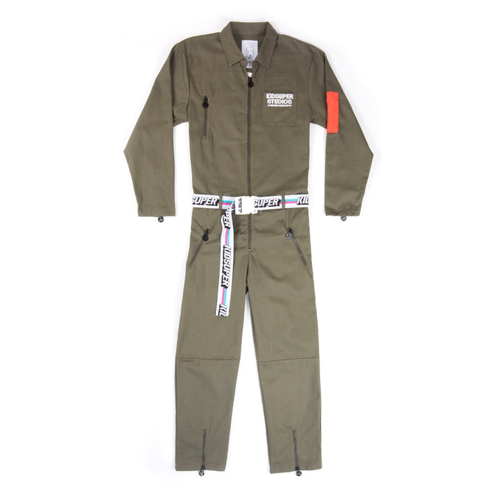 Olive Box Car Racing Suit