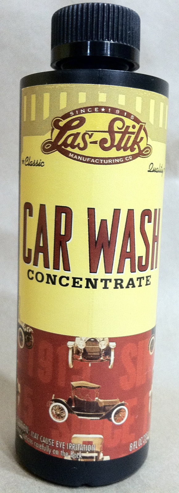 Las-Stik Car Wash Soap Concentrate 8 oz., CW-8  Sold in lots of six