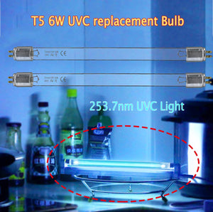 2pcs*T5 6W UV Bulb Replacement Light Straight Tube  (253.7nm Ozone-free)
