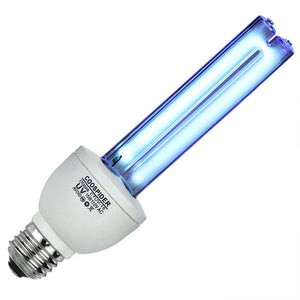 UV Germicidal Bulb Ultraviolet Light Lamp Screw Socket E26 15w 110v Covers up to 300sq ft. UVC Ozone Free