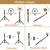 "Coospider 10"" Best Woman Selfie led Ring Light with Tripod Stand for Make up"