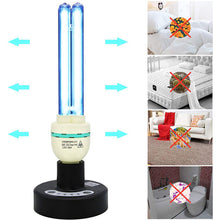 Load image into Gallery viewer, UV Germicidal Light Sterilization rate 99.99% Remote Control Timer 15/30/60 minutes 120V 36W Table Lamp,for Remove Musty (Ozone-free CTUV-36)