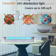 Load image into Gallery viewer, UVC Germicidal Lamp UV-C Bulb Light with 5ft Cord and Plug Cover up to 100 sq. ft. Room 110V 6W UVC (Ozone-free)