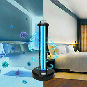 UV Germicidal Light, Remote Control Timer 15/30/60 minutes 110V 38W Table Lamp, Kills Germs and Bacteria (Ozone-free CTUV-38) New Arrival