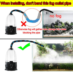 Coospider Reptile Fogger Terrariums Humidifier Fog Machine Mister- 3L Tank 380L/hr High Volume Fog- for Various Reptiles/Amphibians/Herps New version