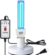 Load image into Gallery viewer, UV 25W E26 110V Germicidal Light UVC Bulb Timer  Base, Used for Remove Musty, Covers up to 400sq.ft (Ozone-free CTUV-25)