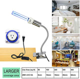 UV Germicidal Light UVC Lamp Bulb with Mechanical Timer / E26 25w 110v Covers up to 400sq ft. UVC Ozone Free