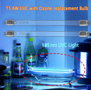 2pcs*UV With Ozone T5 6W Bulb Replacement Light Straight Tube  (185nm)