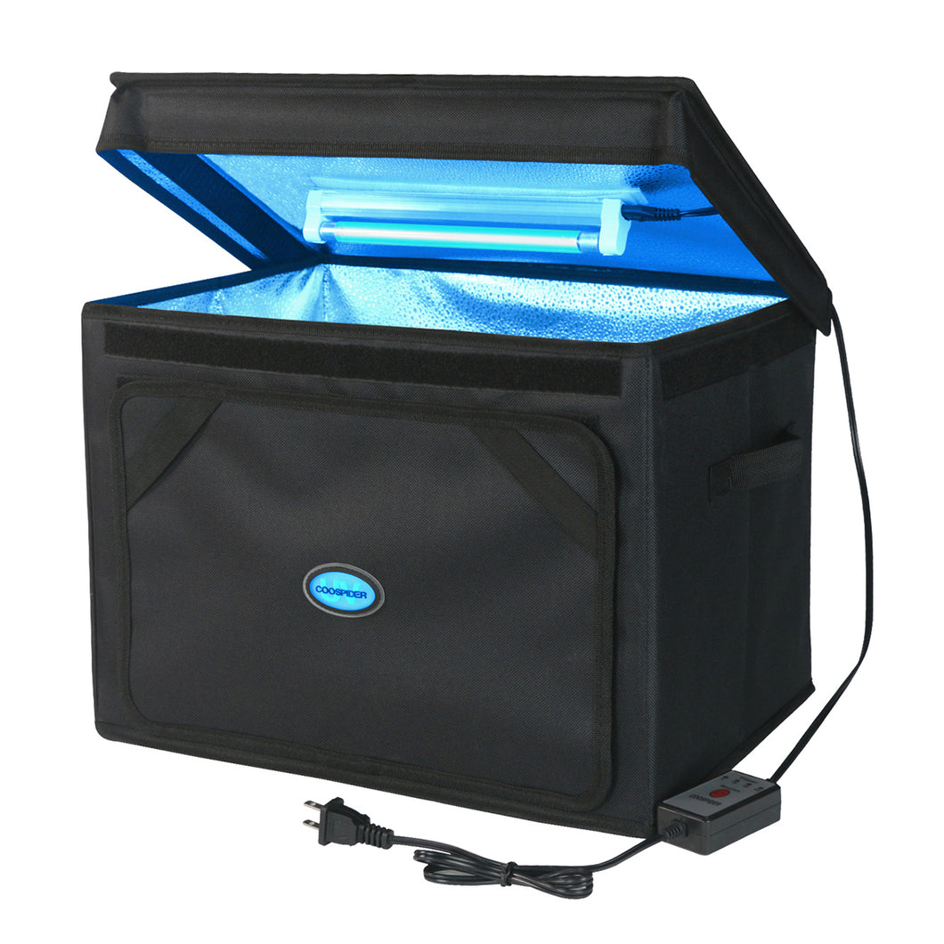 【New Version】UVC Ozone-free portable disinfection bag extra large capacity 5/15/30 mins Timer for disinfect toys, clothes, towels, etc. CTUV-T3