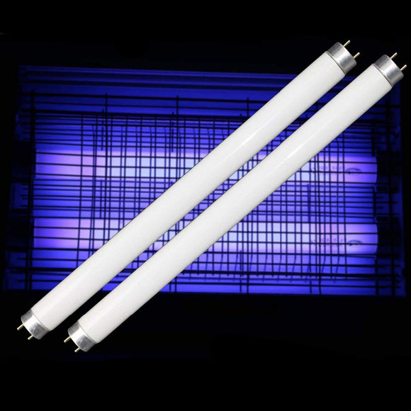 2-Pack 10W UV BL CFL Fluorescent Compact Light Bulb for 20W Electric Bug Zapper Replacement Straight Tube T8 F10 13 Inch