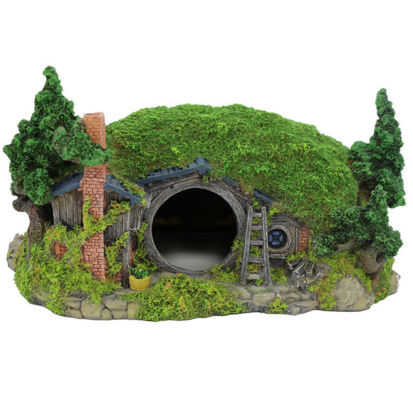 Coospider Hobbit Miniature Landscape Hillside Fairy Hole house Manor Decor Ideas for Aquariums Reptile Box Shelter Ornament 11
