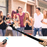 Bluetooth Extendable Selfie Stick Tripod with Universal Smartphone Holder and Gopro Adapter