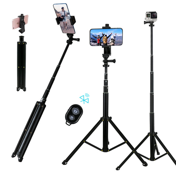 selfie stick with tripod