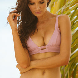 Laurel Rose Blush Bikini Top