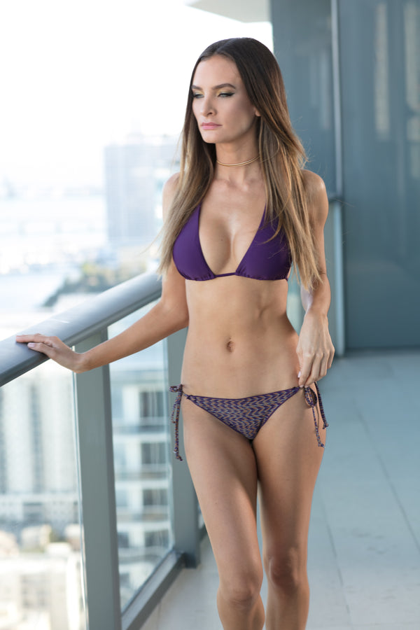 Purple triangle Bikini Top X