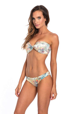 Floral Twist Bandeau Bikini Top & Bottom Lisa