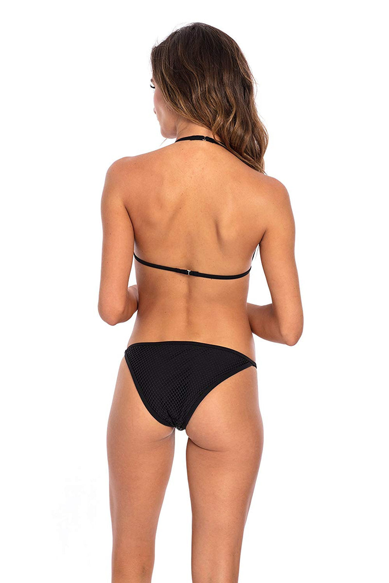Mesh Cheeky Low Rise Bikini Bottom