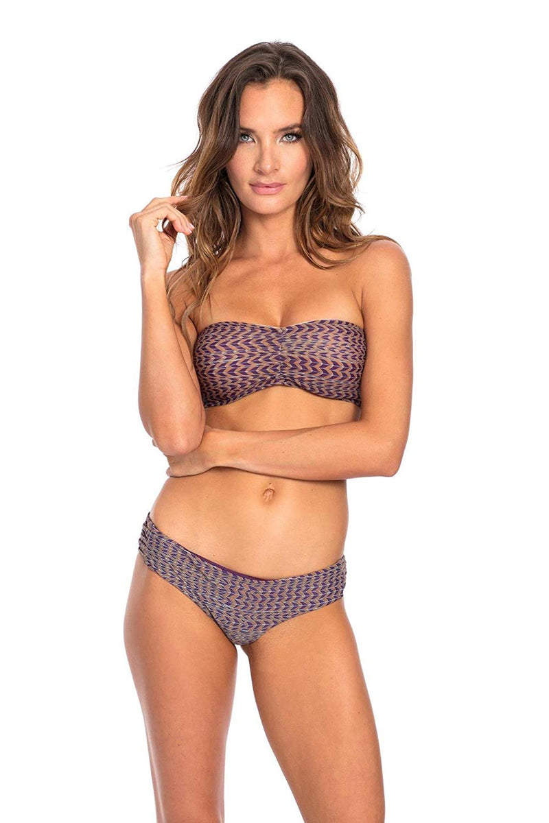 TOP - Purple Cropped Corset Bandeau Top