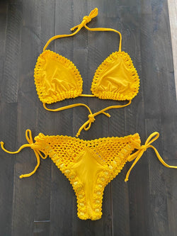 SET - Yellow Crochet Bikini