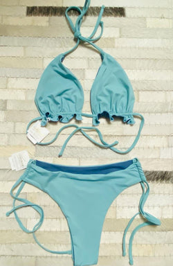 SET - Fabi top acqua-queen / Fabi bottom acqua- green
