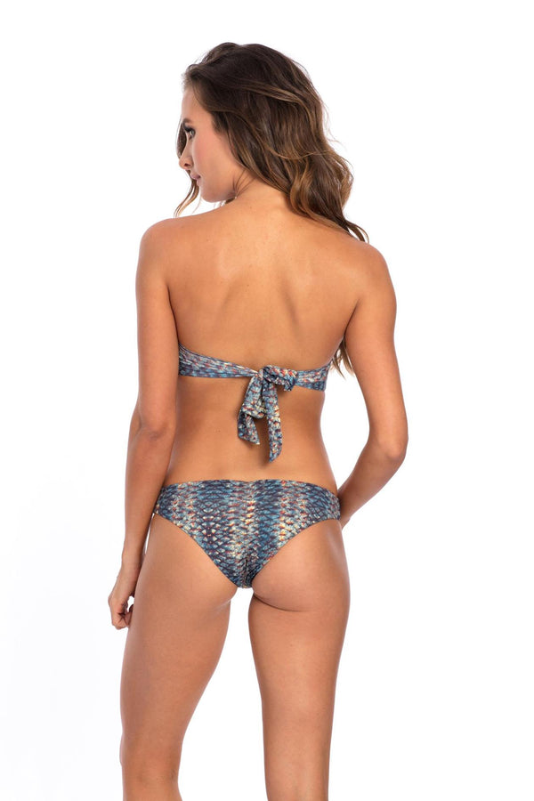 BOTTOM - Mermaid snake Print Mary Bikini Bottom