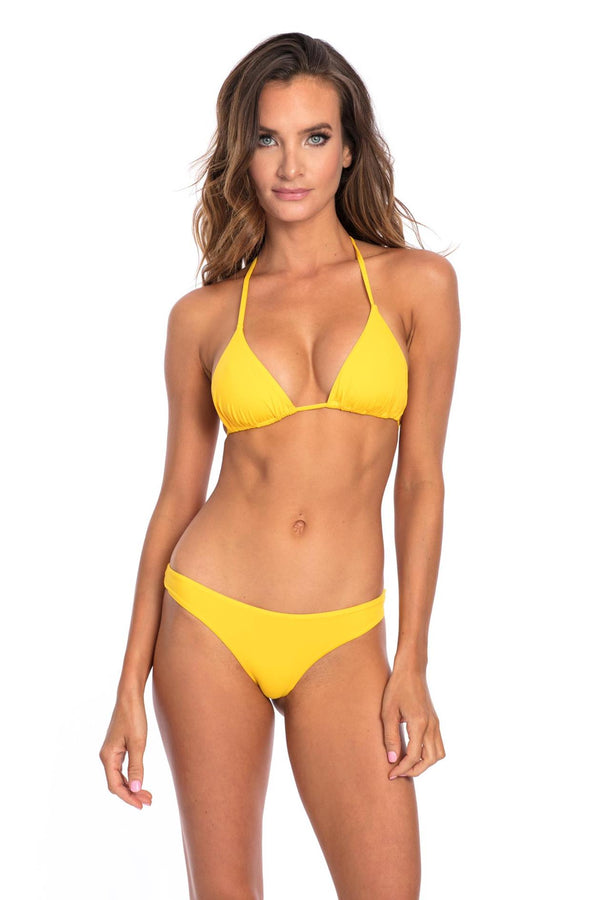 BOTTOM - Yellow Lisa with Scrunch Bikini Bottom