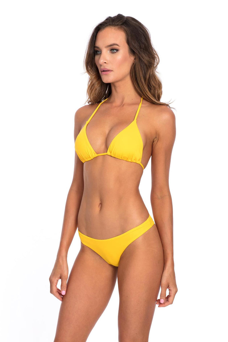 SET - Yellow Lisa with Scrunch Bikini Bottom & top