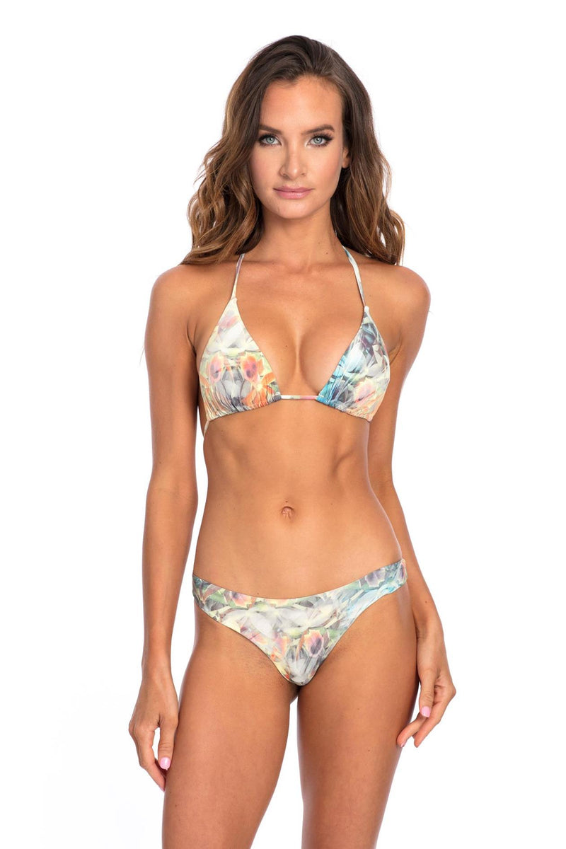 BOTTOM - Floral Lisa Reversible Brazilian Bikini Bottom