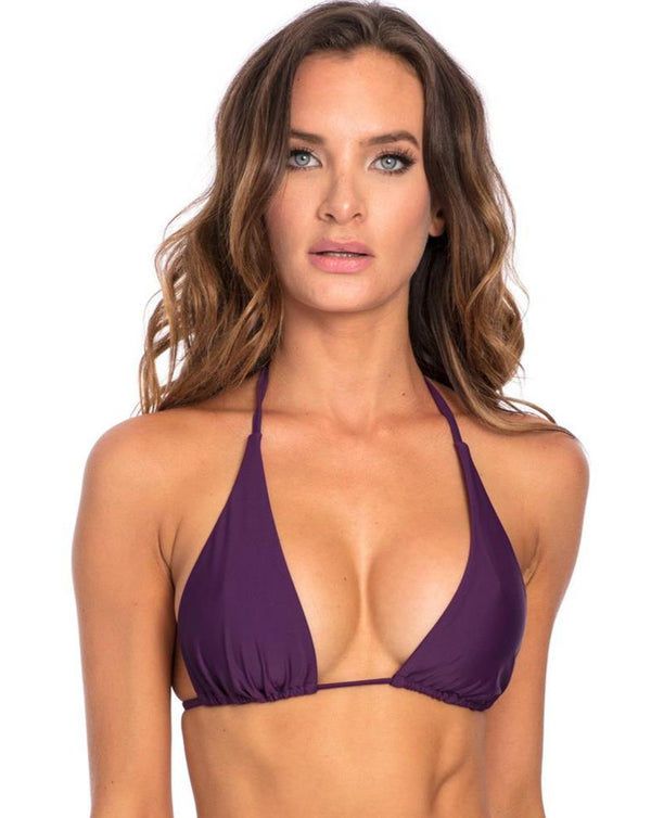 TOP - Purple triangle Bikini Top X