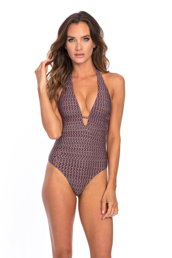 Feathers Print Vivian One Piece