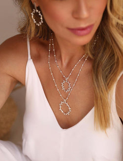 Sand Silver  Necklace