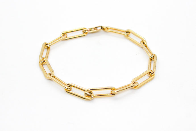 Major Gold Chain Link Bracelet