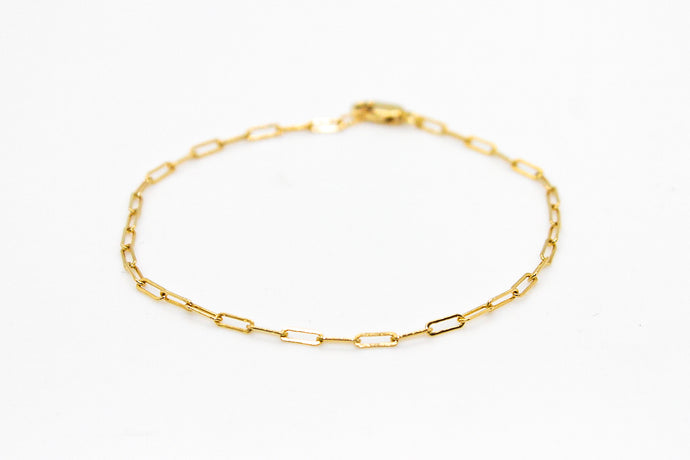Gold Mini Chain Link Bracelet