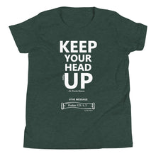 Load image into Gallery viewer, YOUTH - KEEP YOUR HEAD UP T-SHIRT (WH)