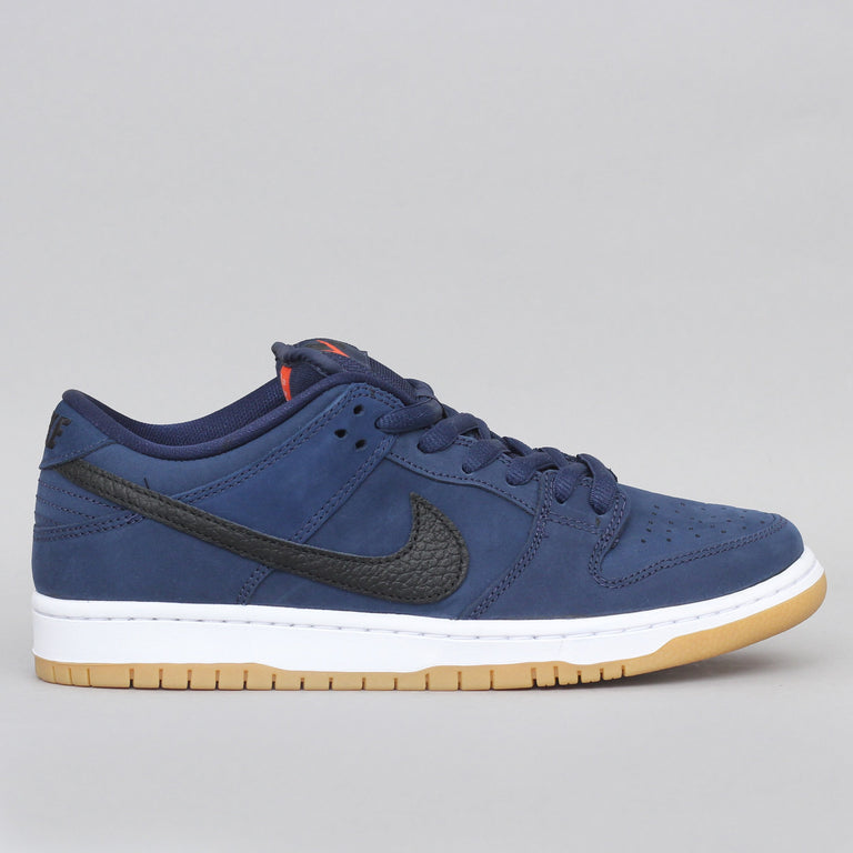 Nike SB Dunk Low Pro ISO Shoes Midnight Navy / Black - Midnight Navy