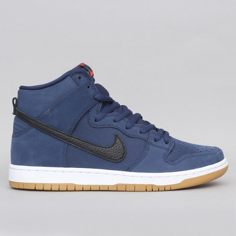 Nike SB Dunk High Pro ISO Shoes Midnight Navy / Black - Midnight Navy - White