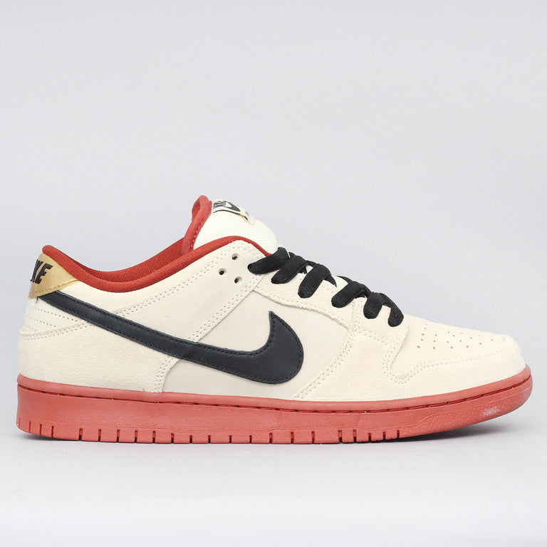 Nike SB Dunk Low Pro Shoes Muslin / Black - Muslin - Rugged Orange