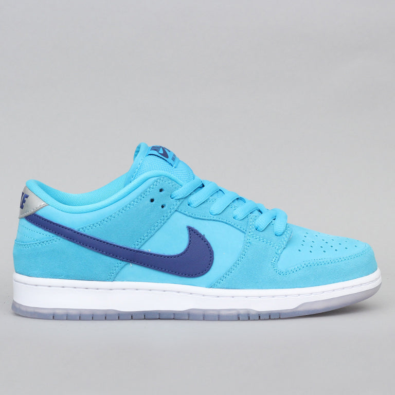 Nike SB Dunk Low Pro Shoes Blue Fury / Deep Royal - Blue Fury - White