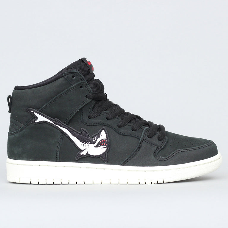 Nike SB Oski Dunk High Pro ISO Shoes Black / White - Black - Sail