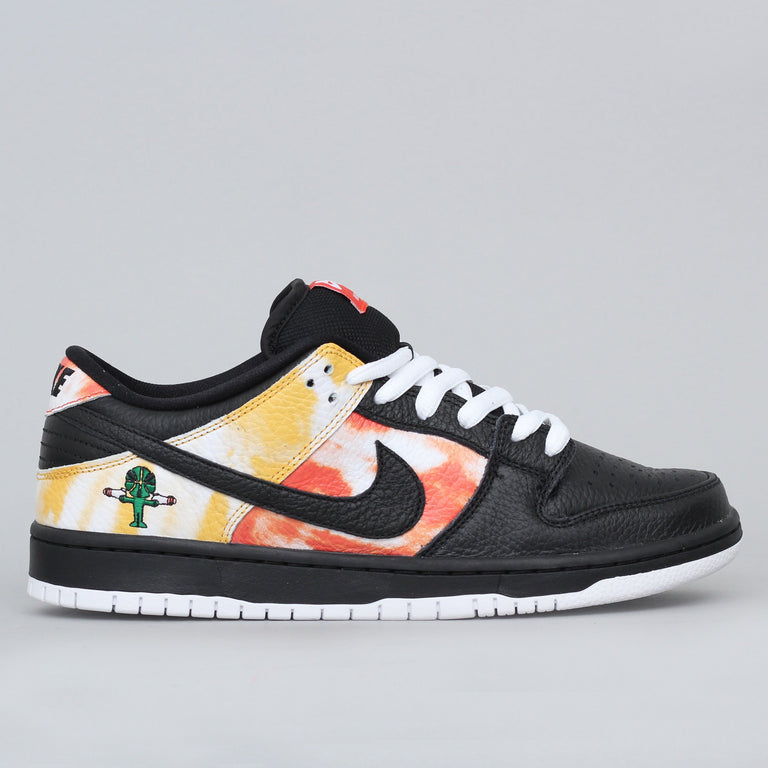 Nike SB Dunk Low Pro QS Raygun Shoes Black / Black - Orange Flash